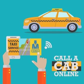 Disegno di taxi sfondo