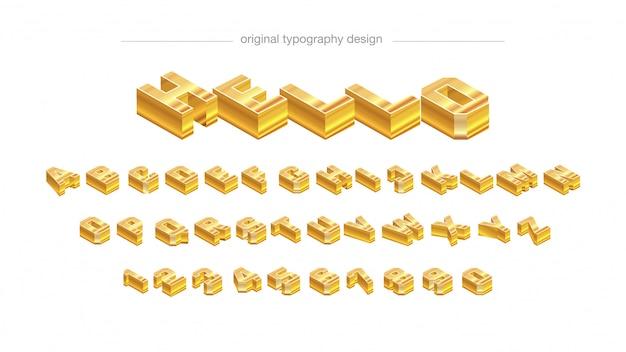 Disegno di tipografia barra dorata astratta