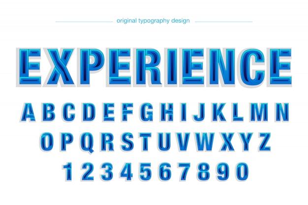 Disegno di tipografia blu moderno astratto