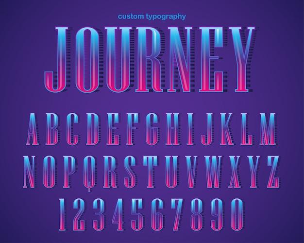 Disegno di tipografia serif audace astratto