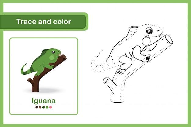 Disegno di un foglio di lavoro per bambini in età prescolare