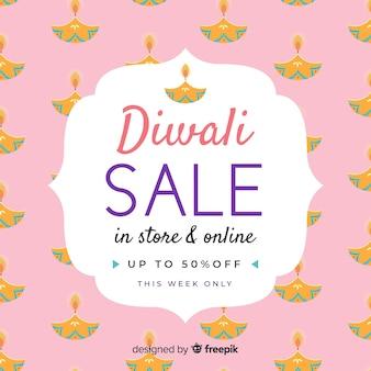 Disegno di vendita di diwali disegnato a mano