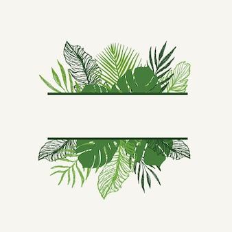 Disegno di vettore di foglie tropicali d'estate alla moda