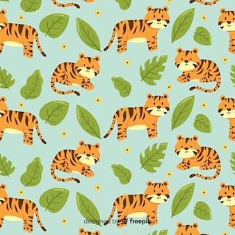 Disegno disegnato a mano del modello della tigre