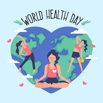 Disegno disegnato a mano di giornata mondiale della salute