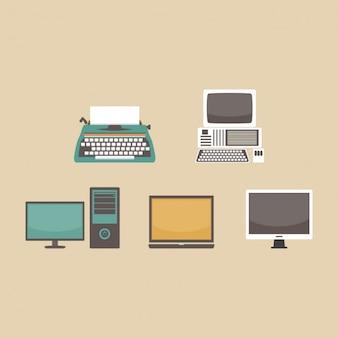 Disegno evoluzione computer