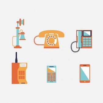 Disegno evoluzione telefono