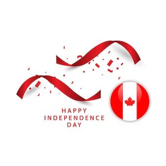 Disegno felice del modello di vettore di giorno dell'indipendenza del canada