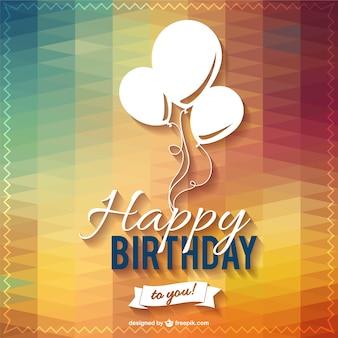 Disegno felice festa di compleanno lettering