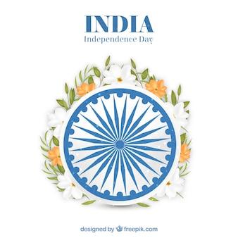 Disegno floreale dell'india indipendente dell'india