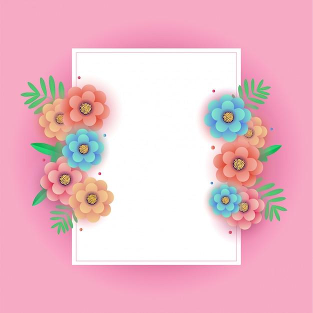 Disegno floreale della cartolina d'auguri di primavera
