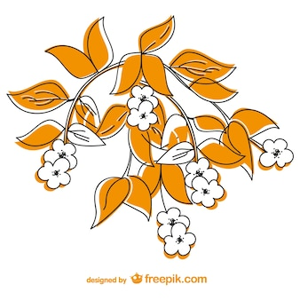 Disegno floreale di vettore carta libera