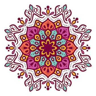 Disegno floreale di vettore dell'illustrazione della mandala
