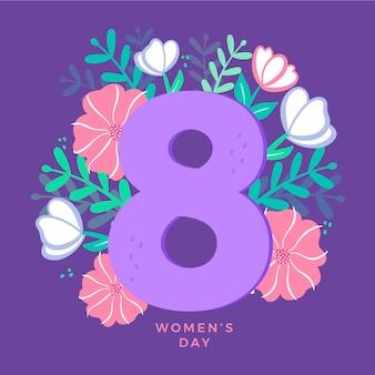 Disegno floreale per la celebrazione della festa della donna