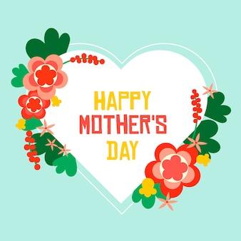 Disegno floreale per la festa della mamma
