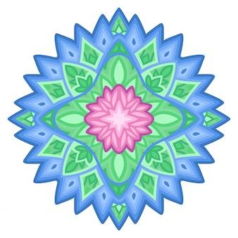 Disegno floreale variopinto isolato con il fiore rosa