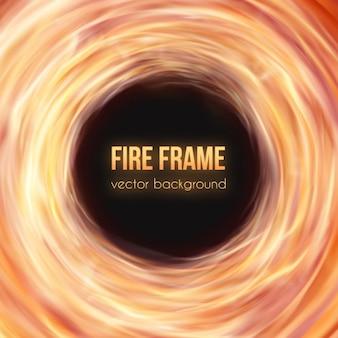 Disegno fuoco di sfondo
