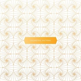Disegno geometrico dorato ed elegante del modello