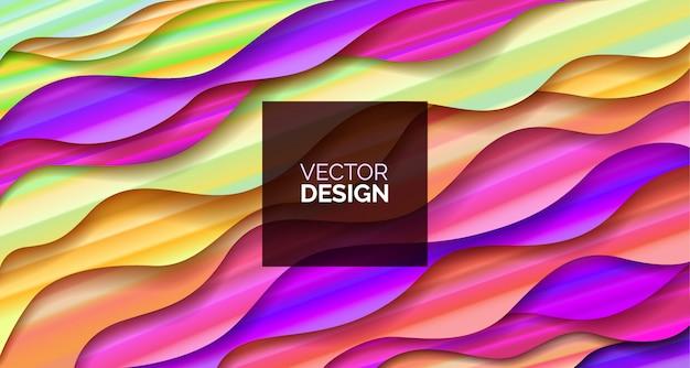 Disegno geometrico fluido astratto con liquidi e forme.