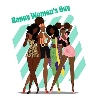Disegno / grafico di vettore di giorno delle donne felici