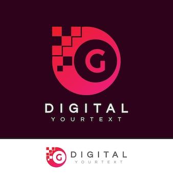 Disegno iniziale digitale lettera g logo