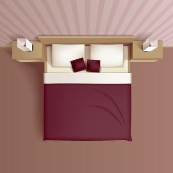 Disegno interno classico della camera da letto della famiglia
