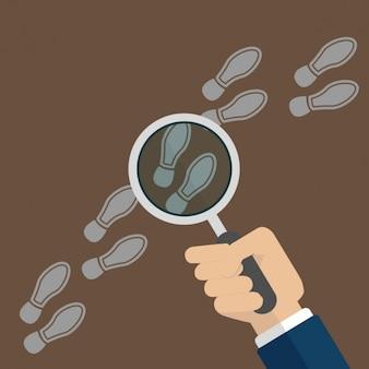 Disegno investigation sfondo