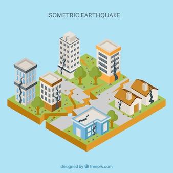 Disegno isometrico del terremoto