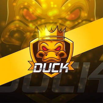 Disegno logo mascotte duck esport