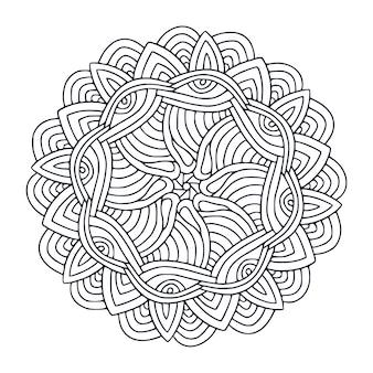 Disegno mandala. pagina del libro da colorare