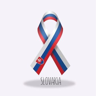 Disegno nastro bandiera della slovacchia