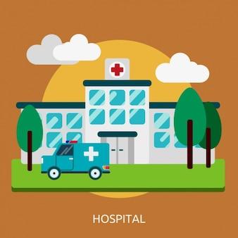 Disegno ospedale sfondo