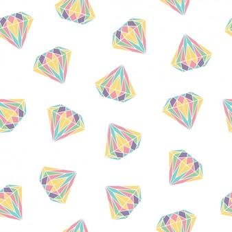 Disegno pattern di diamanti