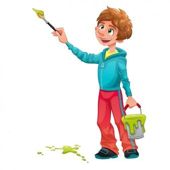 Disegno pittura boy