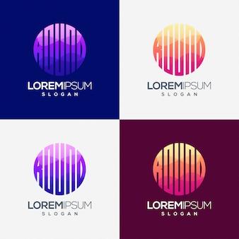 Disegno rotondo colorato gradiente logo