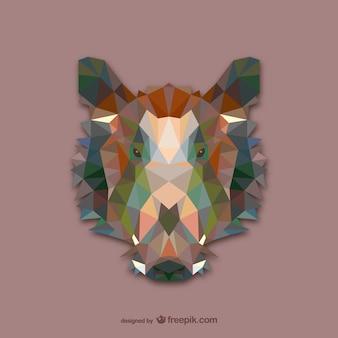 Disegno selvaggio triangolo di cinghiale