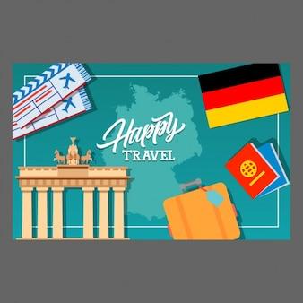Disegno sfondo di viaggio