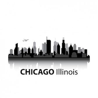 Disegno skyline di chicago
