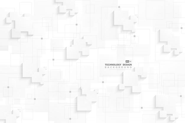 Disegno techno grigio bianco gradiente astratto di sfondo di connessione