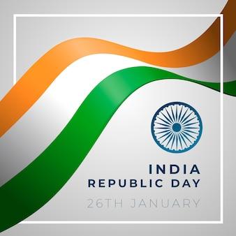 Disegno tematico con la festa della repubblica indiana