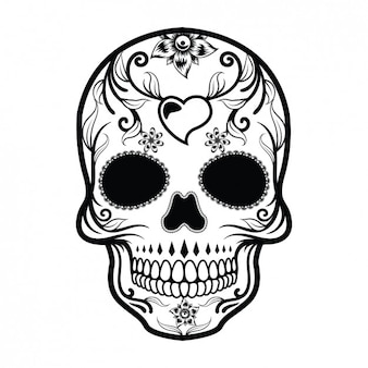 Disegno teschio messicano