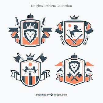 Disegno tradizionale dell'emblema del cavaliere