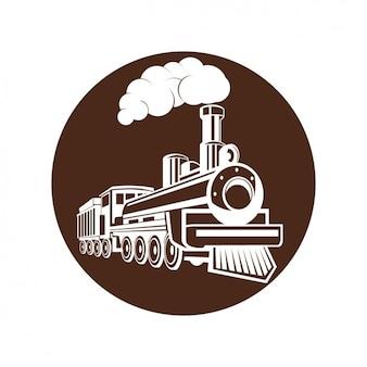 Disegno treno a vapore