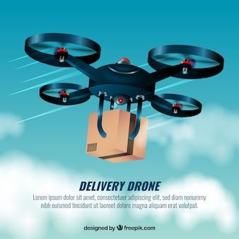 Disegno veloce del drone di consegna