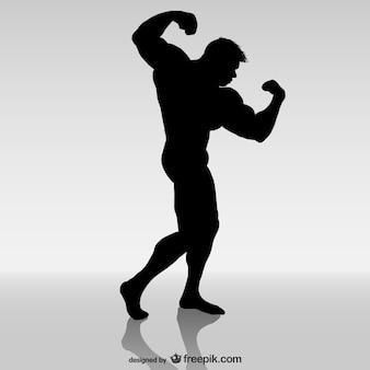 Disegno vettoriale bodybuilder