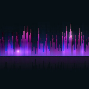 Disegno vettoriale colorato equalizzatore dell'onda sonora