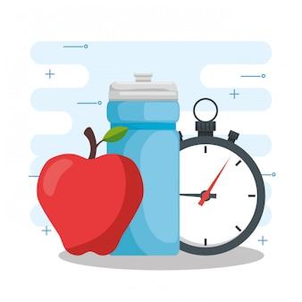 Disegno vettoriale concetto di stile di vita sano