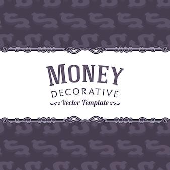 Disegno vettoriale decorazione fatta di simboli del dollaro isometrica