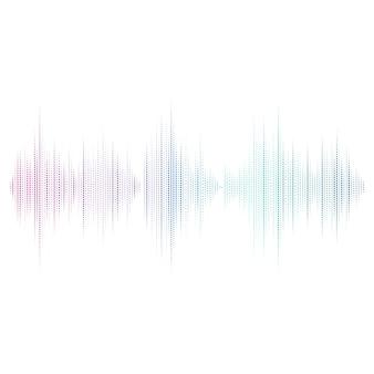 Disegno vettoriale dell'equalizzatore dell'onda sonora