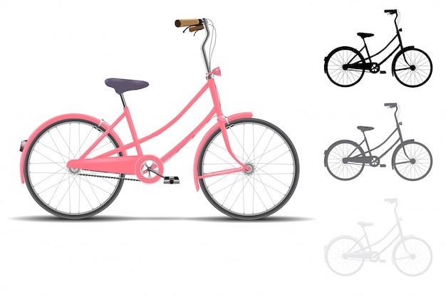 Disegno vettoriale di biciclette d'epoca